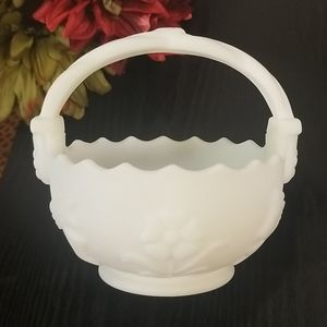 Imperial frosted glass basket